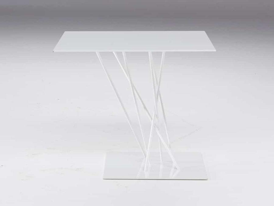 Shanghai square accent table white by natuzzi italia