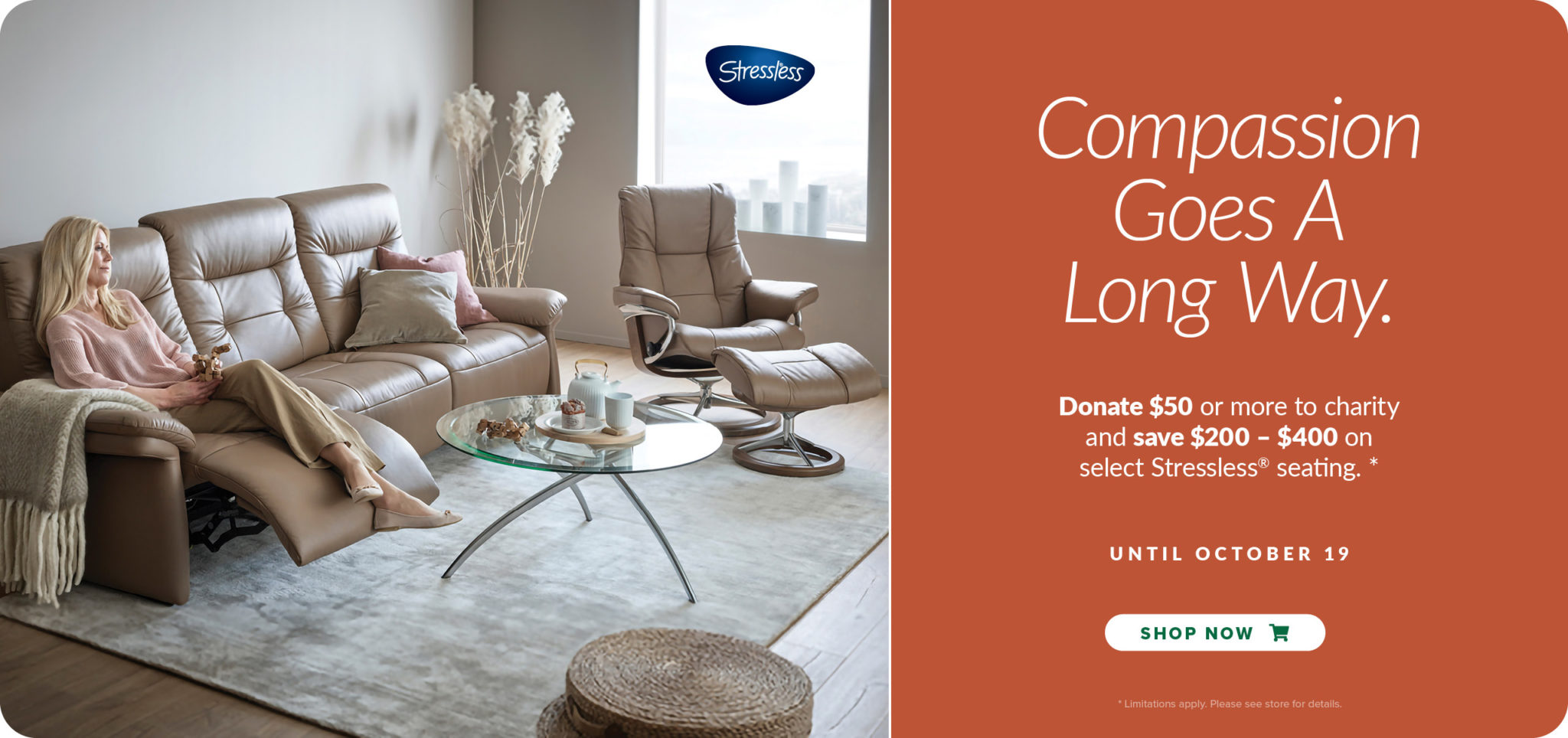 Enjoy modern contemporary home furniture like this ultra-comfortable sofa from Stressless