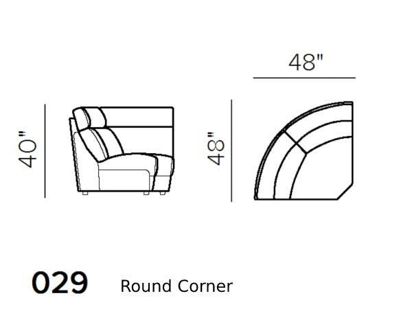 natuzzi editions giulivo C155 round corner schematics version 029