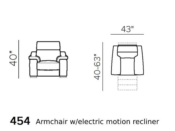 natuzzi editions giulivo C155 armchair with electric recliner schematics version 454