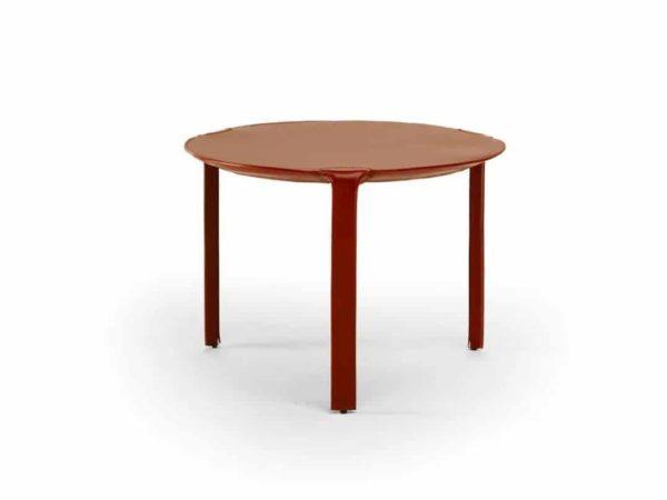 Natuzzi Italia Lamp Side Table Red