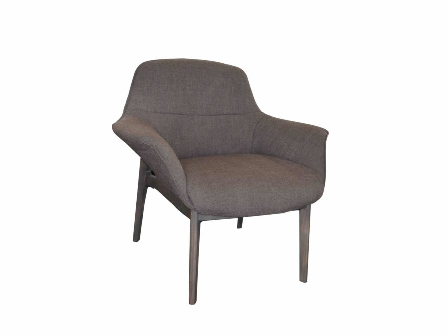 Natuzzi Italia Aura armchair brown fabric assisi 86