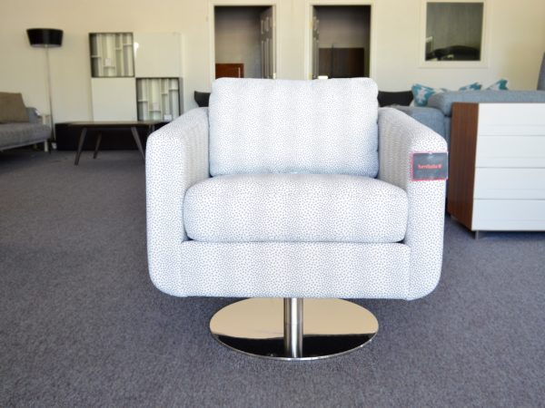 Spin Armchair by Palliser - Pewter - front view