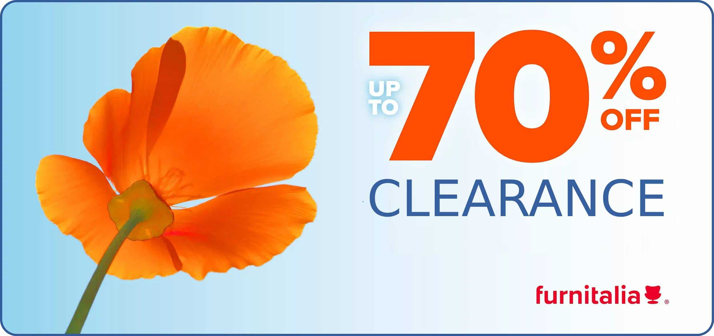 Summer Clearance Sale at Furnitalia - Get up to 70% OFF on clearance items