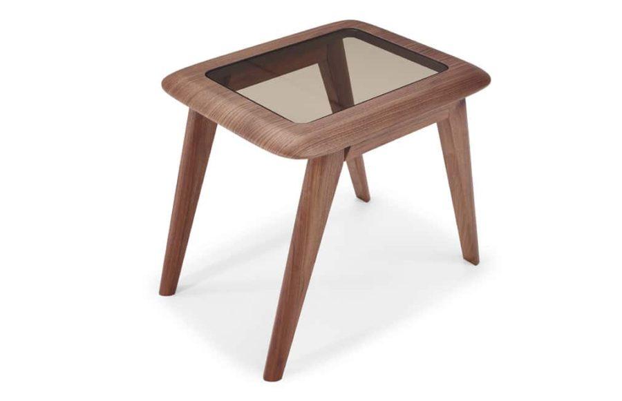natuzzi editions Chianti T144 square accent table walnut
