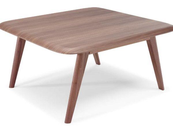 natuzzi editions Chianti T144 square corner table walnut