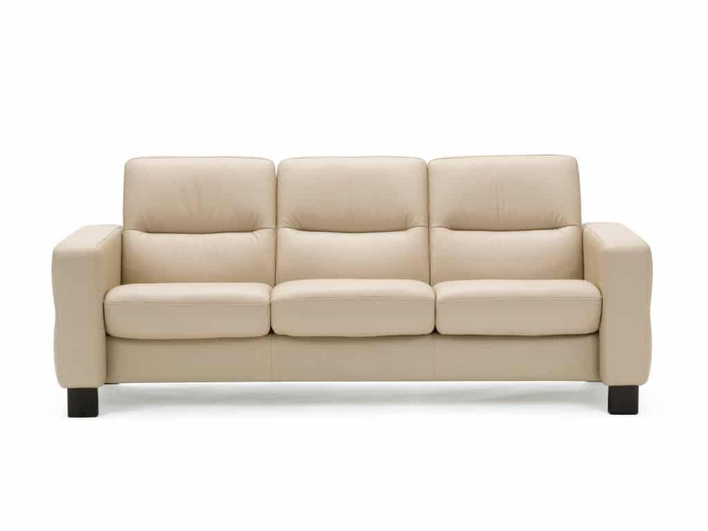 stressless Wave 3-seat sofa batik leather cream color