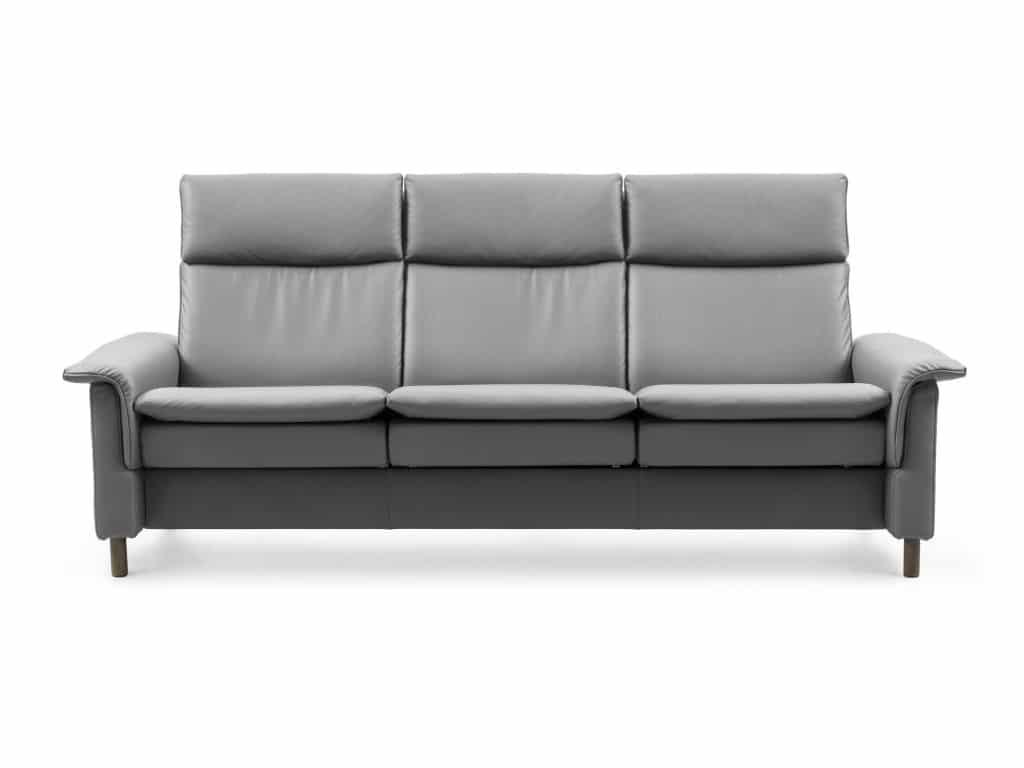 stressless aurora 3-seat high-back sofa in wild-dove color