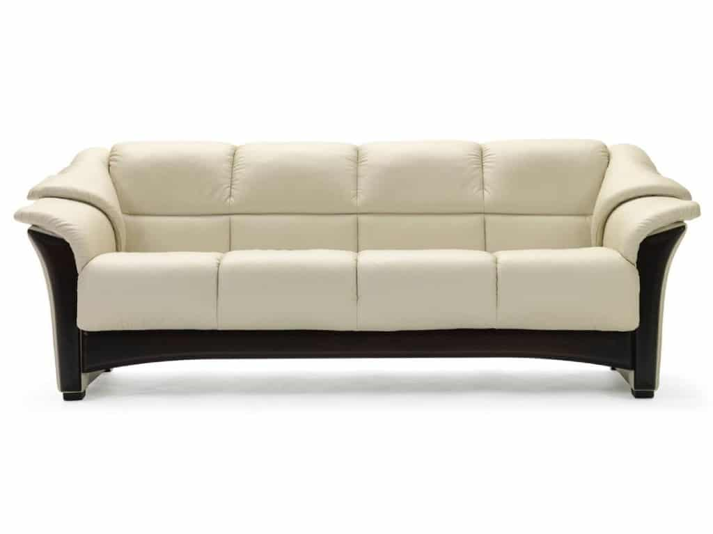 stressless oslo sofa light grey color and wenge wood finish