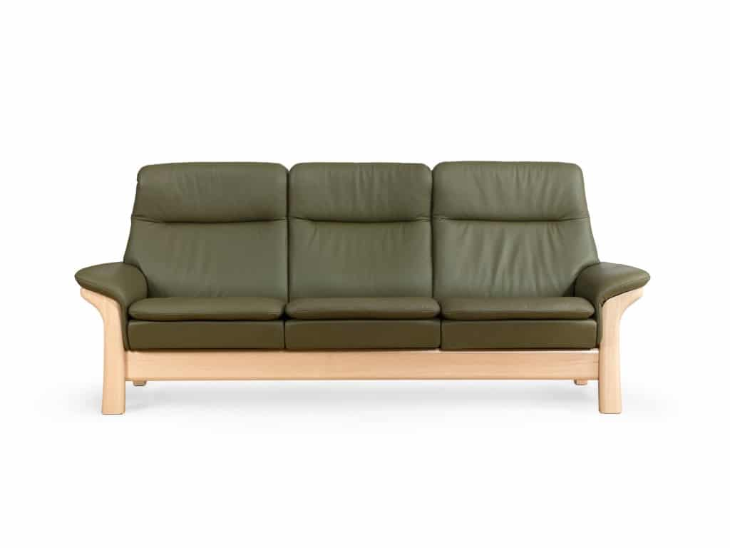 stressless saga sofa with wood base