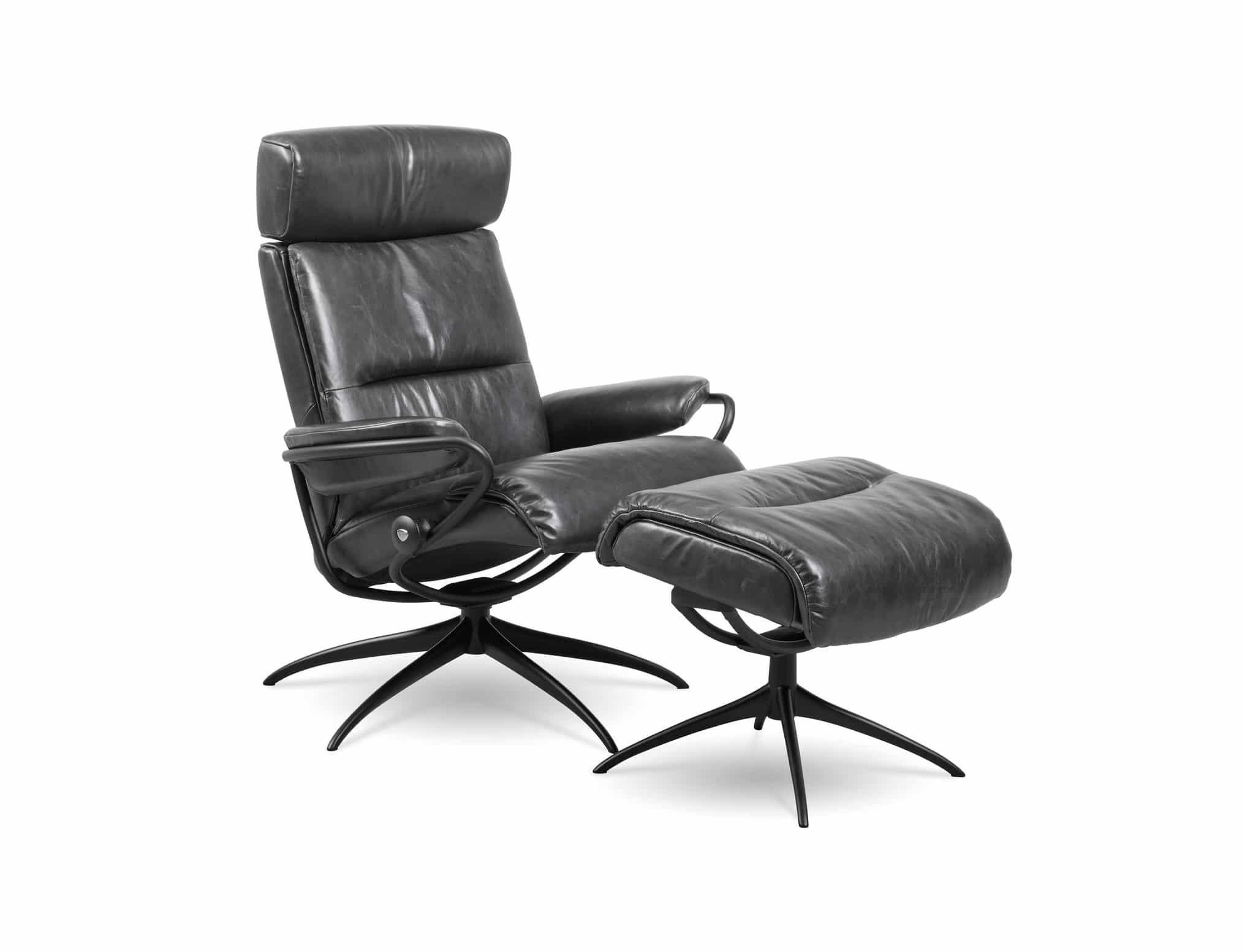 stressless tokyo recliner star base pioneer black leather