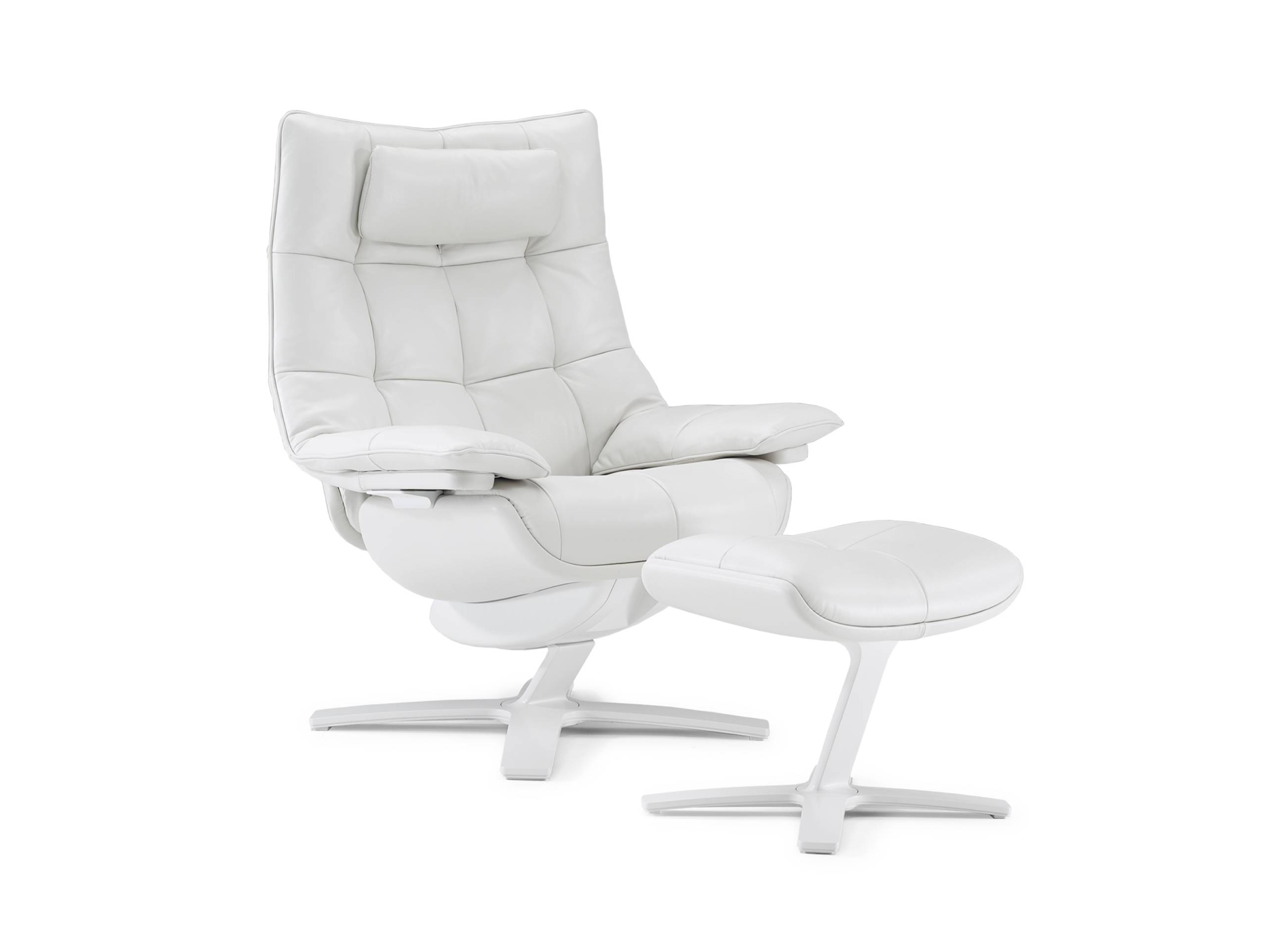 Natuzzi Re-Vive 600K Quilted King with Footrest
