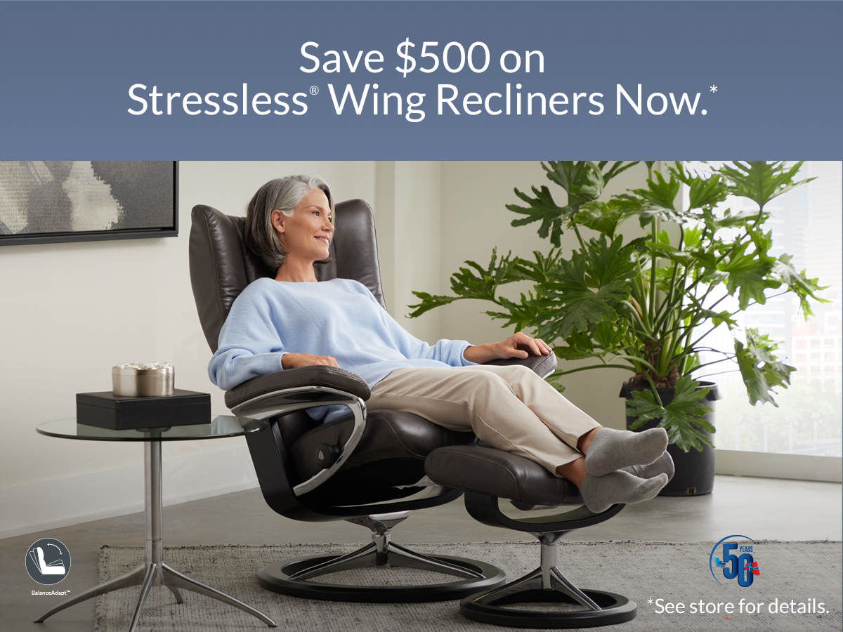 Stressless Wing Recliner Promo Aug 2021