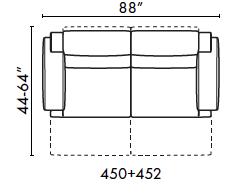 schematics for natuzzi italia Iago 2 cushion sofa